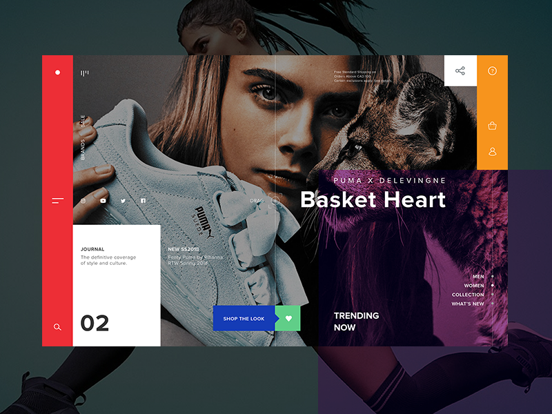 Puma X Store color webpage webdesign shop e-commerce graphicdesign website landing concept ui ux