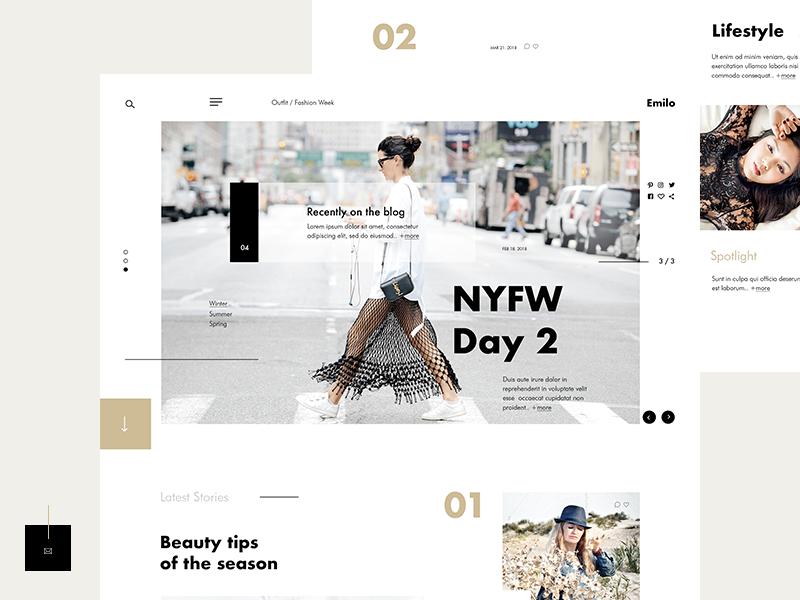 Emilo fashion and lifestyle blog  2 layout