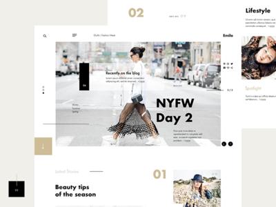 Emilo Fashion & Lifestyle Blog  #2 Layout