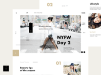 Emilo Fashion & Lifestyle Blog  #4 Layout webpage layout website design concept webdesign landing fashion blog ui ux