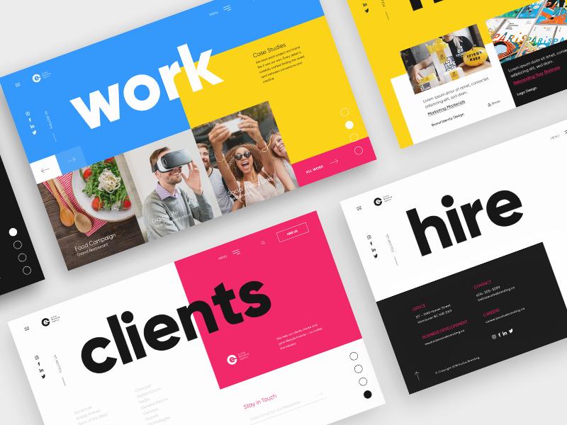Branding Agency - Landing Page layout typography website colors agency ux ui page landing designer