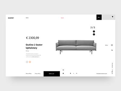 Mariq Oskar Store website webpage webdesign web ux ui site shop landing product furniture concept