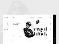 Regal black eyewear white