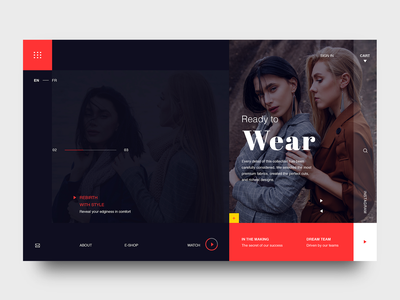 Teglo Fo - Ready To Wear creative modern design trendy concept web interaction layout design fashion website webdesign typography ui ux landing homepage