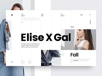 Fashion & Lifestyle Blog UI clothing brand blog design trendy creative webpage typography website landing webdesign layout concept ux ui fashion blog
