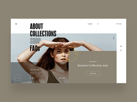 Umbrella Clothing - Homepage UI