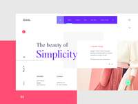 Britth Fashion Store - Landing Page UI