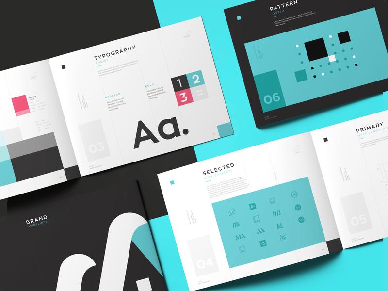 Mataj Architects - Brand Identity Guideline print design styleguide logos graphic design brand illustration layout visual identity typography logotype brand book guideline branding brand identity logo