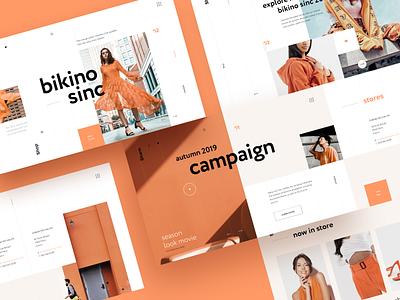 Bikino Sinc - Home Page web design blog branding bikino sinc fashion store concept ux ui webdesign landing layout webpage homepage design website interface interaction ecommerce typography webdesigner graphicdesigner