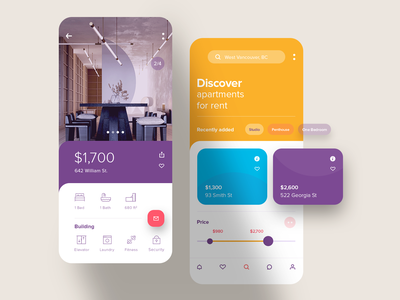 Apartments Finder App UI mobile ui product ios mobile application ios app web website icon typography branding interface illustration webdesign product design ui ux concept iphone app