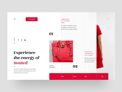 HotRed Fashion Store - Home Page Animation woocommerce onlinestore ecommerce fashion webpage webdesigner animation website ui ux web webdesign