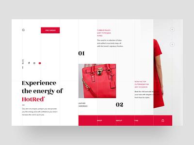 HotRed Fashion Store - Home Page Animation woocommerce onlinestore ecommerce fashion webpage webdesigner animation website ui ux web webdesign