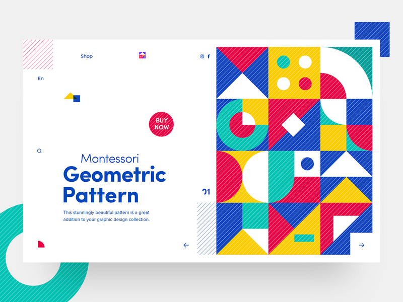 Haus of Patterns - Montessori Geometric Pattern pattern print graphicdesign illustrations website webdesign web