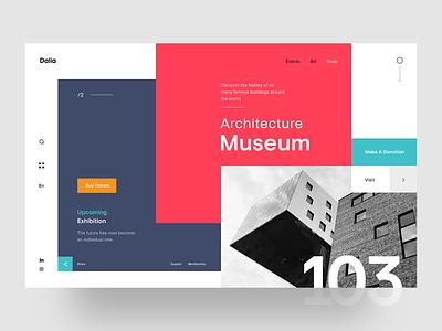 Dalia Architecture Museum - Landing Page webdesigner web webpage typography concept ui ux website landingpage webdesign architecture