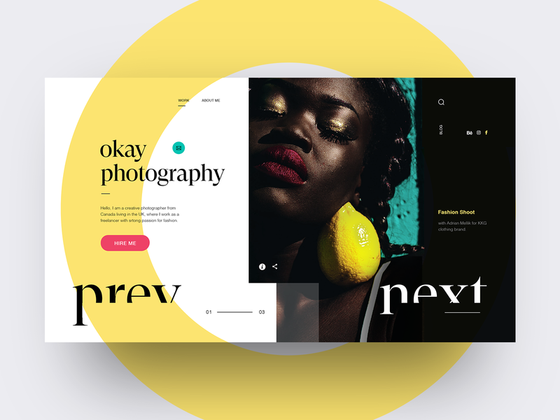Photography Portfolio UI concept web website webdesign portfolio site photography
