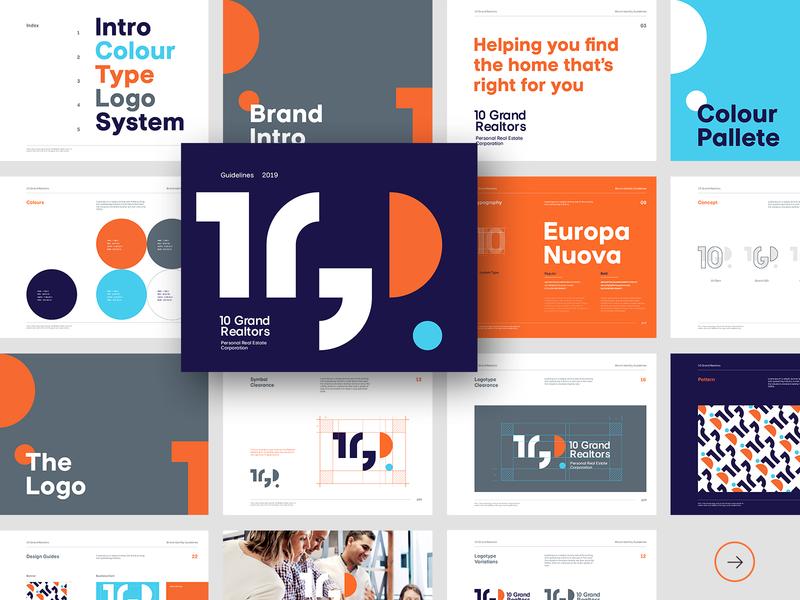 10 Grand Realtors - Brand Guidelines brand logo design brand book typography print logo design brand identity branding