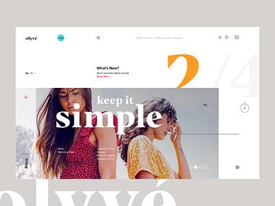 Olyvé - Landing Page UI website web design ui ux