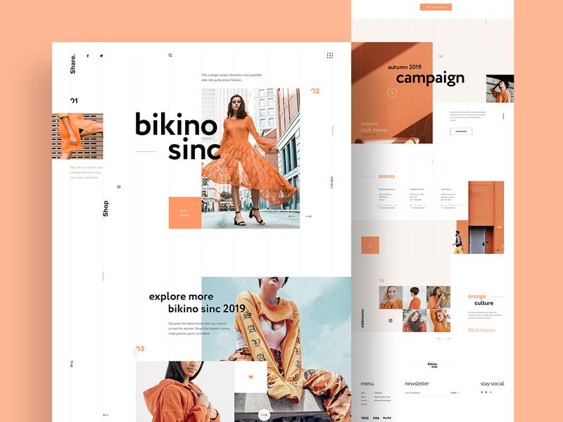 Bikino Sinc Fashion -- Homepage webpage interface website landingpage designer webdesign shop online store graphic design fashion site ui ux website design web design homepage web