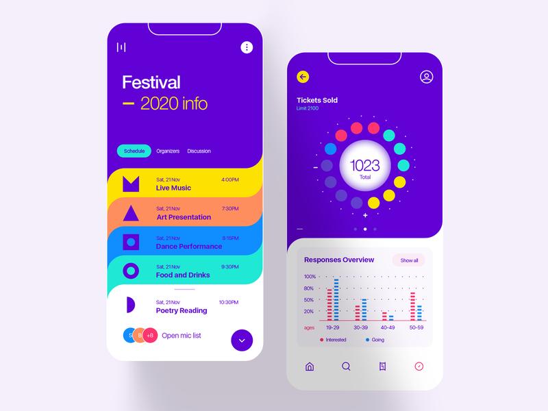 Festival Info App ui interface app