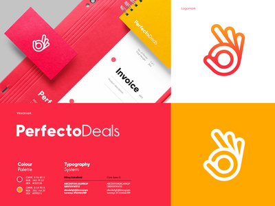 Brand Design - Perfecto Deals typography print brand identity