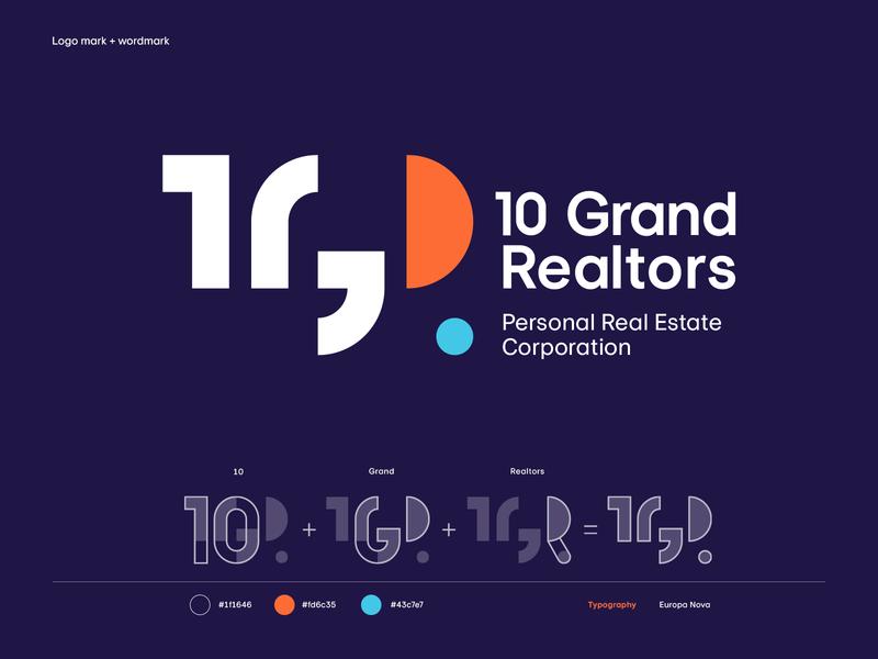10 Grand Realtors branding print typography