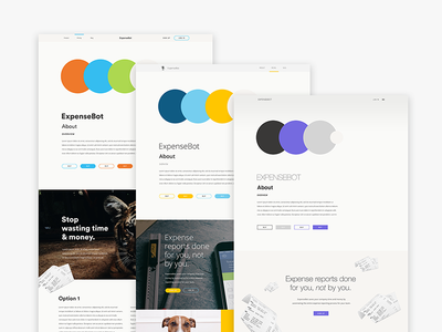ExpenseBot Brand Exploration style tiles typography colors branding