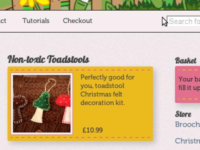 Non Toxic Toadstools craft texture stitch