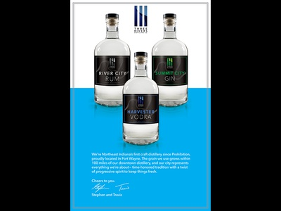 Three Rivers Distilling Co Promo Poster