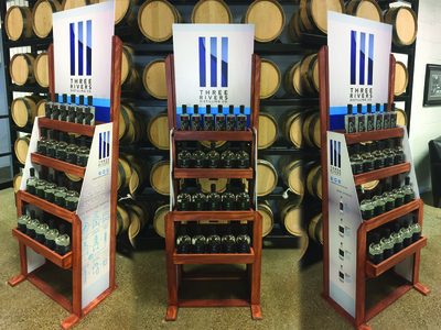 In-Store Display for Three Rivers Distilling Co.