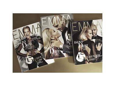 EMMA MAGAZINE magazinecover coverdesign cover visualidentity system typography artdirection fashionmagazine design editorial magazine