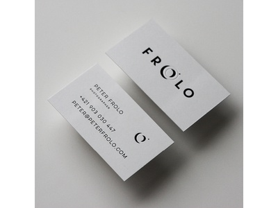 Frolo / Photographer businesscard contrast lens eyeslit viewthrough logotype identity brand photographer