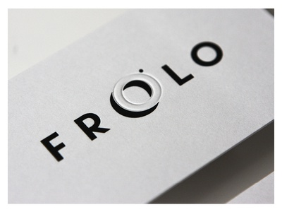 Frolo / Photographer hotstampfoil paper businesscard contrast lens eyeslit viewthrough logotype identity brand photographer