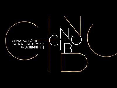 TATRA BANKA ART AWARDS / category concept branding typography monogram design linear awards motion logotype