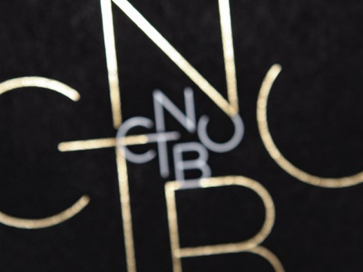 CNTBU / Logotype printing hotstamp class awards abstract typography mirror identity branding logotype