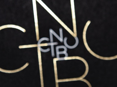 CNTBU / Logotype printing hotstamp class awards abstract typography mirror identity branding logotype