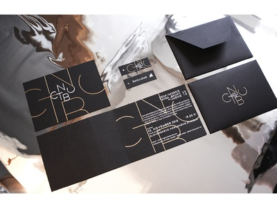 CNTBU / stationary awards class envelope invitation printing typography hotstamp graphicdesign stationary identity production branding