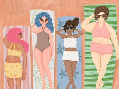 Positive body image body positive illustrator illustration editorial illustration