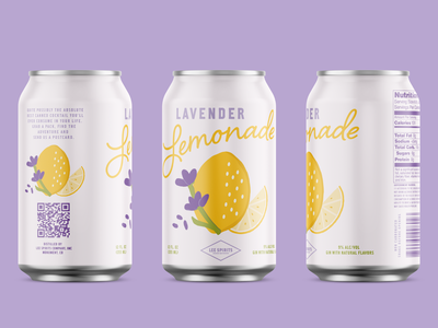Lavender Lemon Canned Cocktail brand design liquor cocktail packagingdesign can design packaging brand