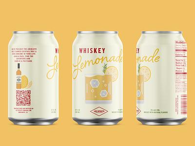 Whiskey Lemonade Canned Cocktail packagingdesign packaging cocktail canned cocktail can design brand design brand