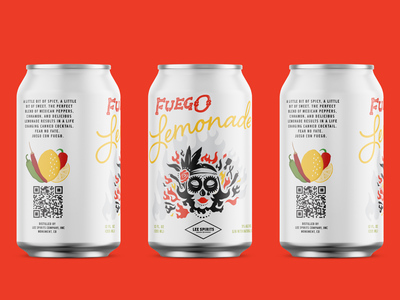 Fuego Lemonade Canned Cocktail liquor cocktail can design can packaging packaging design brand design brand