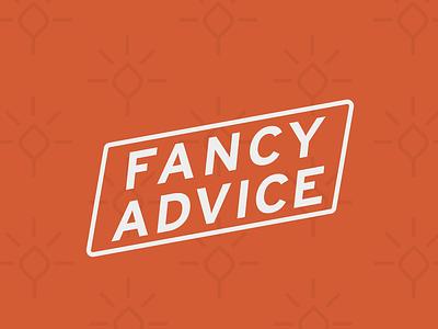 Fancy Advice Logo logo design brand identity brand design colorado design branding type brand logo