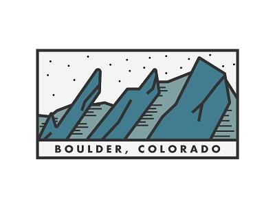 Boulder, CO flat irons futura minimal simple lines thick colorado mountains flatirons boulder