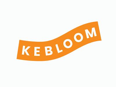 Kebloom Primary Mark orange creativity adventure strong playful fun kids entrepreneur start up tech young people logo design brand design design brand logo