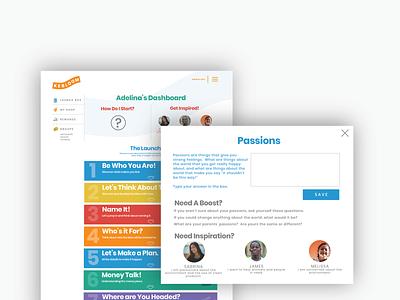 Kebloom UI Overhaul young people entrepreneurship rebrand product branding brand design brand product design product ui user interface