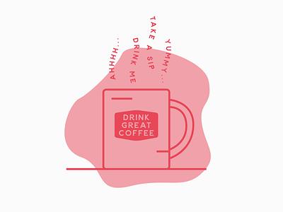 Mug Illustration mugs brand designer coffee logo simple minimal brand design coffee mug mug coffee illustration