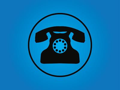 Phone icon typogaphy illustration business card ui design vector icon phone icon logo