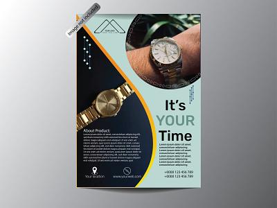 Watch Flyer Design graphic design flyer typogaphy vector