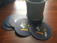 Astronaut Dog Coasters