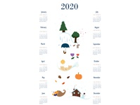 Seasons through the Year - 2020 Calendar