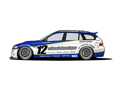 Livery Design for RicFalre racecar car livery illustration